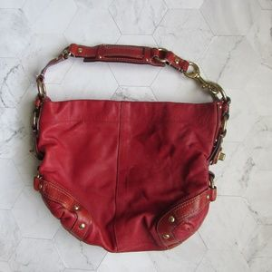 COACH 10616 Bright Red Leather Shoulder Bag